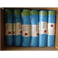 LDPE drawstring garbage bag on roll with perfume