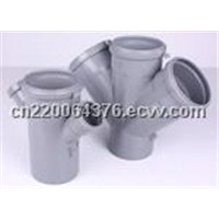 PP double branch tee pipe fitting mould