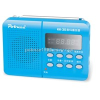 P-KK-35 multifunction MP3 player with FM radio and support USB data cable