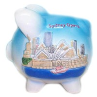 Piggy Money Box/Ceramic Coin Bank/Souvenir Promotional Gift