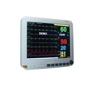 Portable Multiparameter Patient Monitor 15 Inch Medical Monitor with ECG, TEMP