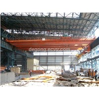 QD model double girder overhead crane winch type