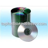 Silver printable cd with spindle package