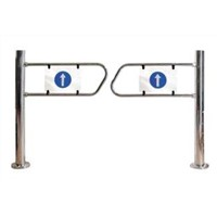 Supermarket Swing automatic barrier Gate double-sided plastic information signs