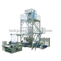 Three-layer Coextrusion Rotary Die-head Film Blowing Machine Set