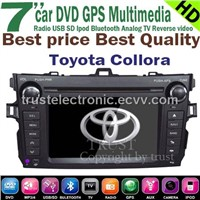 Wholesale Toyota Collora In dash stereo GPS DVD GPS player with 7inch touch screen factory manufaure