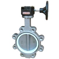 Worm gear operated stainless steel 316 butterfly valve