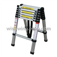 double aluminum telescopic ladder