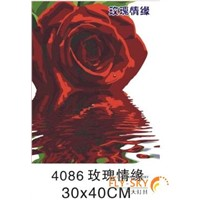 flower oil painting by numbers for home decoration