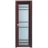 interior door with aluminum alloy frame and easy to assemble,customized lock systems welcomed
