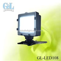 GL-LED108 battery operated mini led lights for camcorder