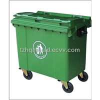 plastic waste bin mould,garbage bin mould,dustbin injection mould