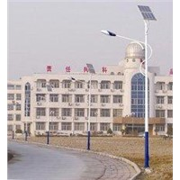 saving energy bright Solar & wind 12 / 24V hybrid street lighting for urban roads