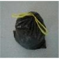 stra seal HDPE plastic garbage bag with drawstring  on roll
