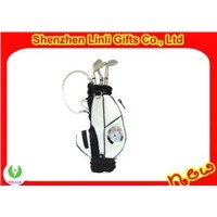 supply 2011 novelty golf pen holder with digital clock