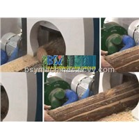 wood log cutting saw