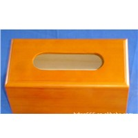 wood tissue box   wood box