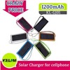 1200mAh New Solar Universal Batteries Charger for Mobile Phone Iphone Ipad PSP ect.