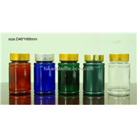 100cc PET medicine bottle with aluminum lid