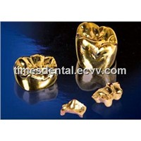 Dental Precious Yellow Gold Cast Metal Crown