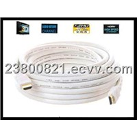 HDMI cable White 30-50m with 24k gold plated 1.4version 1080p for ethernet HDTV 3D.