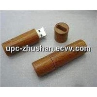 OEM Real Memory Red Wooden USB Flash Pen Drive