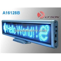 P3mm 16*128 dots Blue Color Window LED Scrolling Sign/Window LED Message Display