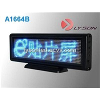 P3mm 16*64 Dots Blue Color Sinlge Blue Color LED Sign/Mini LED Text Sign Board