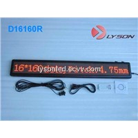 P4.75mm 16*192 Dots Single Line LED Moving Message Sign