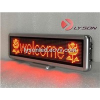 P4mm 16*64 Dots Red Color Desktop Display Screen - High Resolution