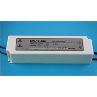 12V 100W waterproof led transformer