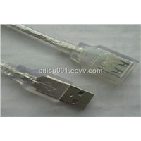 1.5m bright color USB extension cable with full covered female plug