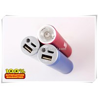 3 Colors Metal Case 2600mAh Portable Power Bank, with Torch Function, for Samsung Galaxy S2/S3