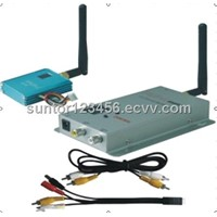 2.4G 1KM 12CH mini UAV wireless video audio transmitter and receiver equipment ST2410MW