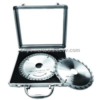 3PCS TCT Circular Saw Blade Sets Aluminum Case