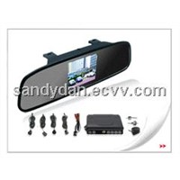 3.5 inch Digital TFT-LCD Rearview mirror with camera and 4 parking sensors