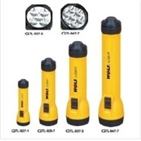 ABS yellow torch light