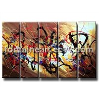 Abstract oil painting, multi-panel painting,  hand made oil painting