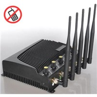 Adjustable output power signal Jammer with five bands