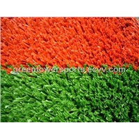 Athletic running track artificial turf