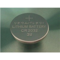 CR2032  button cell battery , coin cell  , lithium battery
