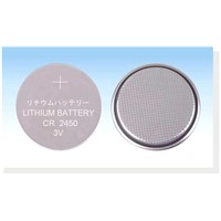 CR2450 button cell battery , coin cell , lithium battery
