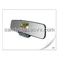 Car rearview mirror with 3.5'TFT& wireless back-up camera