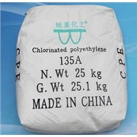 China CPE-135a Anti-shock additive for hard PVC and UPVC pipes ,extruded doors and windows