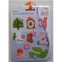Christmas Epoxy Resin Sticker