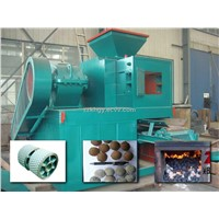 Coal briquette press line