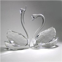 Crystal Swan Model-Wholesale Crystal Animal