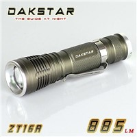 DAKSTAR ZT16A CREE XML T6 885LM 18650 Aluminum Rechargeable LED High Power Zoom Torch Light