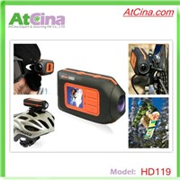 HD119 1080P Helmet Camera HD Outdoor Sports Action Camera with 1.5 Inch TFT LCD,5.0 MP