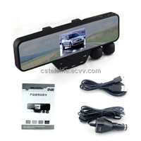 HD Car recorder with rear view mirror monitor back view camcorder